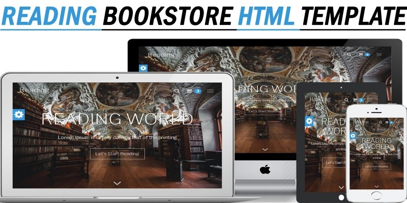 Reading - Bookstore Responsive HTML Template
