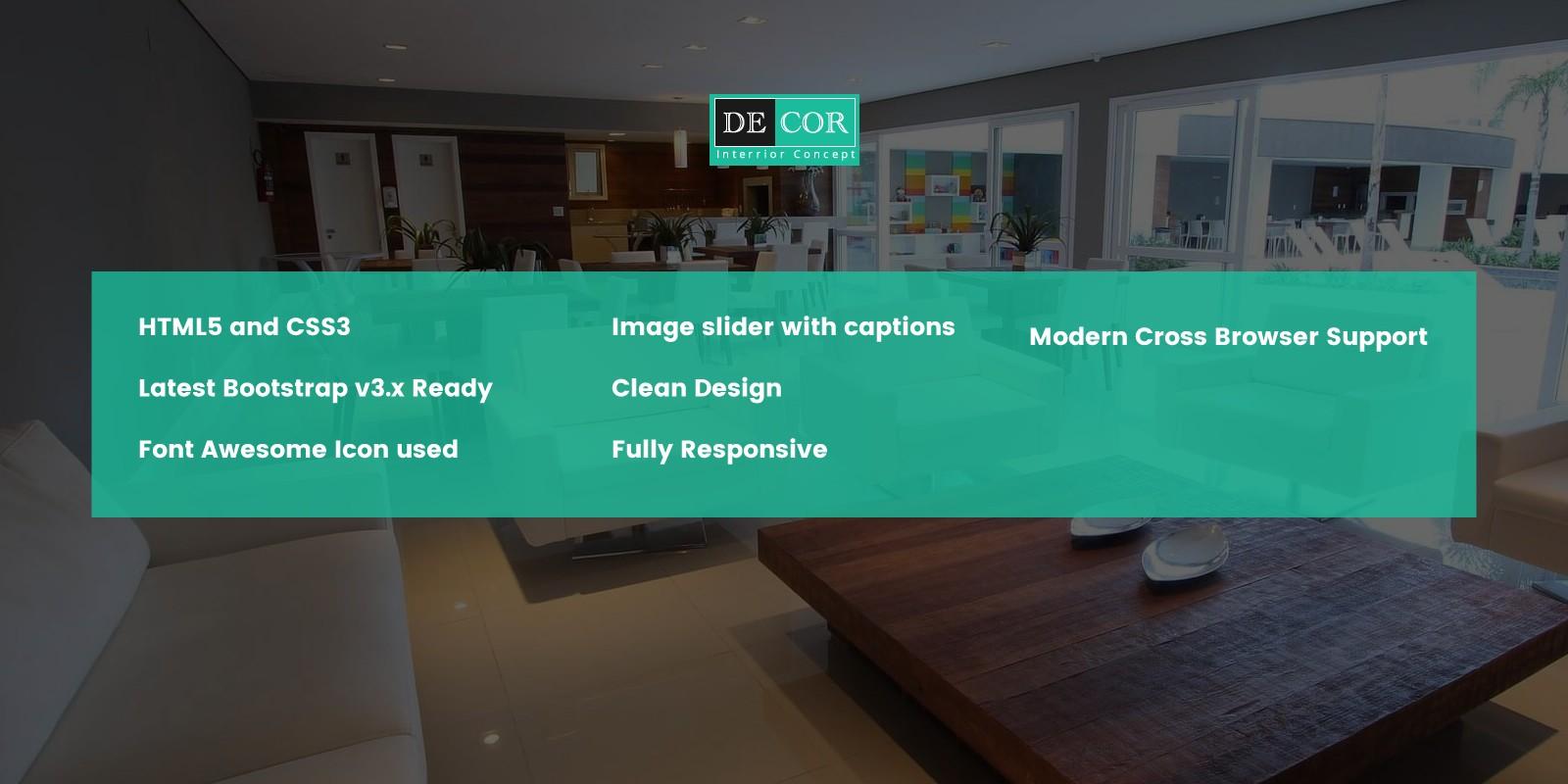 Decor - Corporate Interior Design HTML5 Template