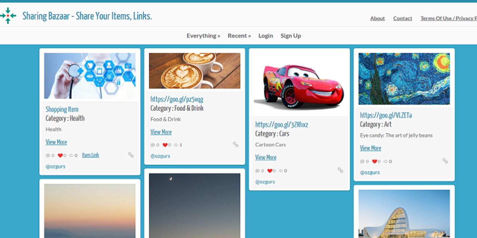 Asp.Net Social Sharing Web Application Source Code