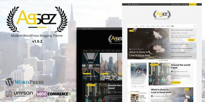 Assez - Modern WordPress Blogging Theme