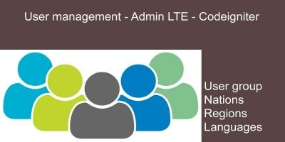 User management - Codeigniter Admin LTE