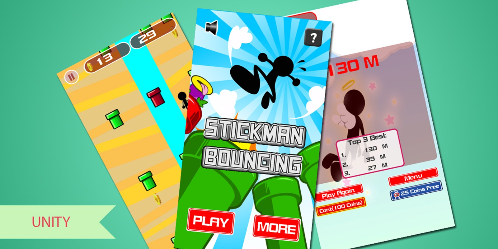 Stickman Bouncing - Complete Unity Project