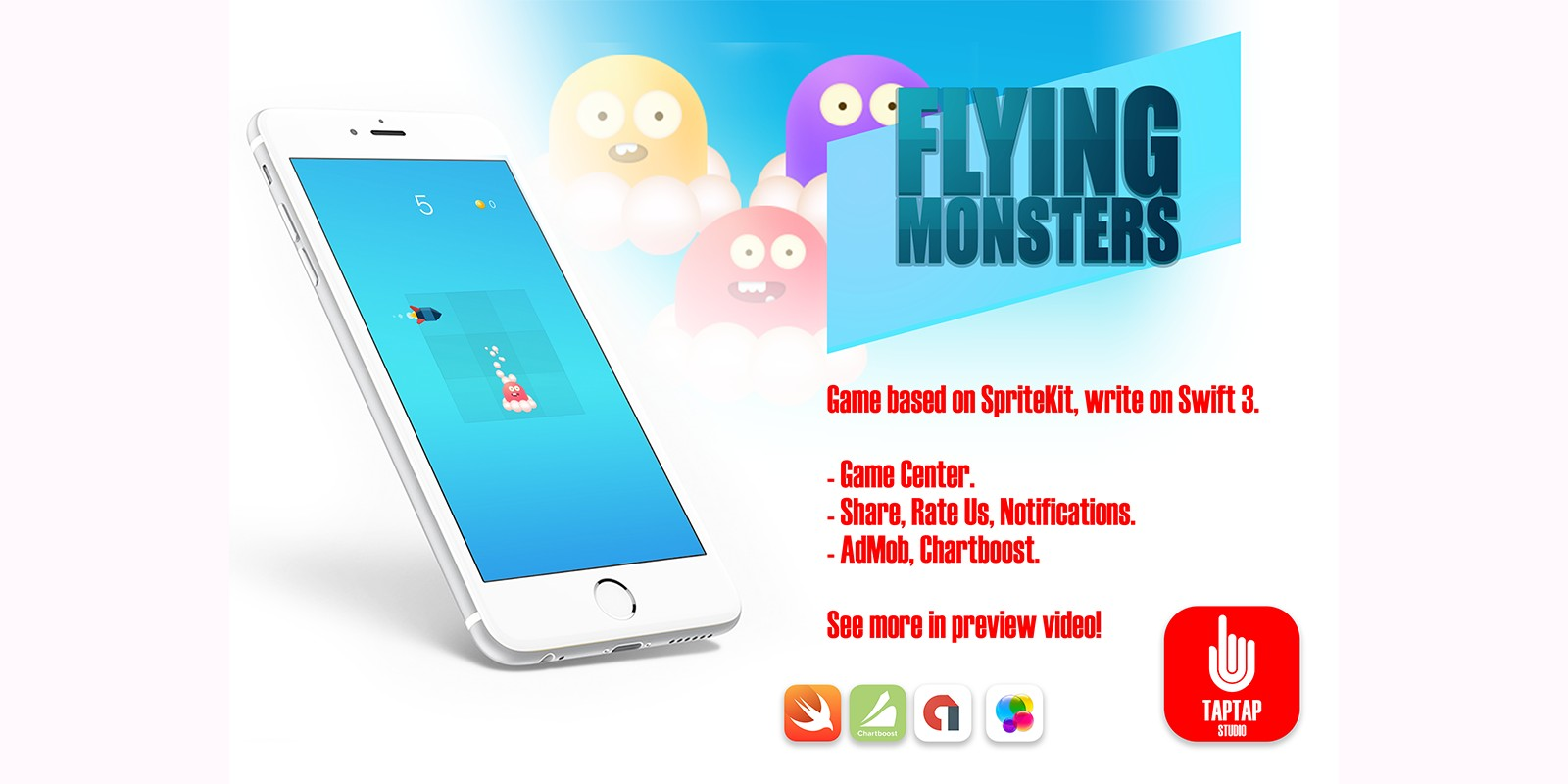 Flying Monsters - iOS Xcode Source Code
