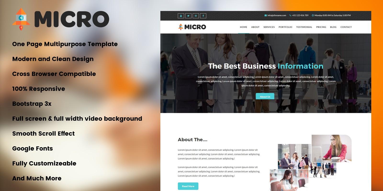 Micro - Creative Agency Landing Page