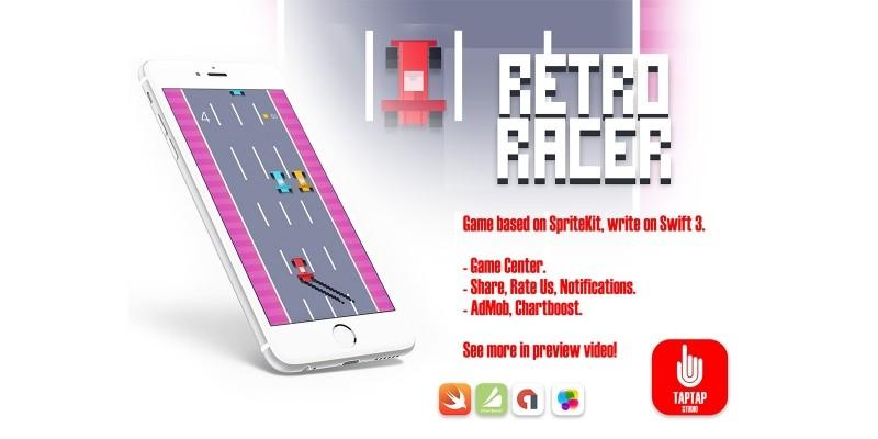 Retro Racer - iOS Xcode Source Code