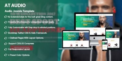 AT Audio –  Responsive Audio Joomla Template