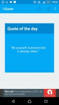 1Quote - Android App Source Code Screenshot 2