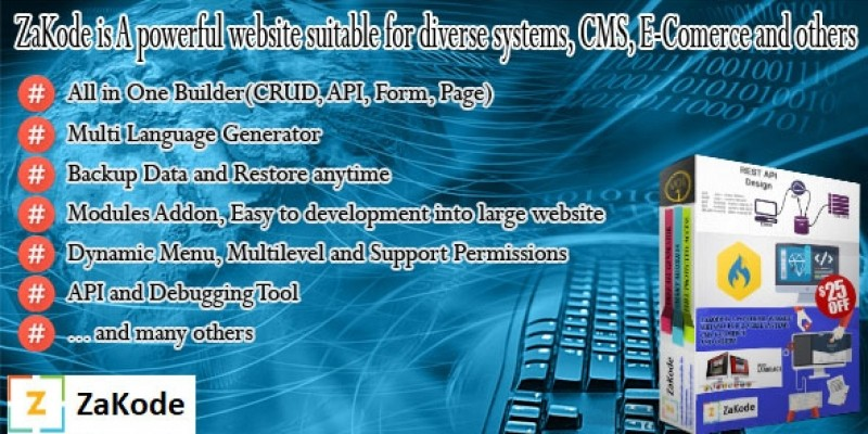 ZaKode - Website Builder PHP Script