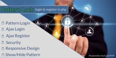 Pattern Lock Login and Register - PHP