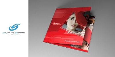 Indesign Brochure Red Diamond Template