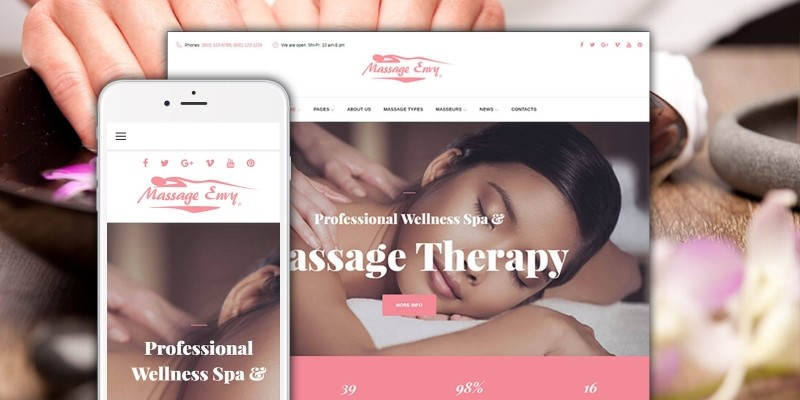 Massage And Spa Salon WordPress Theme