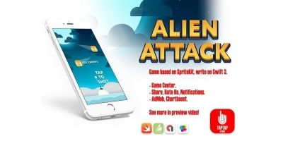 Alien Attack - Full iOS Xcode Project