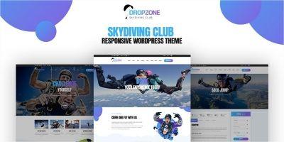 Dropzone - Skydiving Responsive WordPress Theme