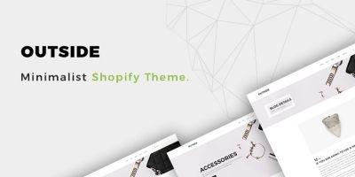 Outside - Minimalist eCommerce  Shopify Theme