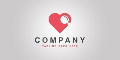 Love Search - Logo Template