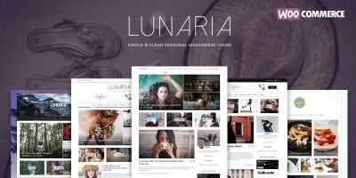Lunaria - Clean Personal WordPress Theme