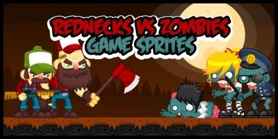 Rednecks vs Zombies - Game Sprites