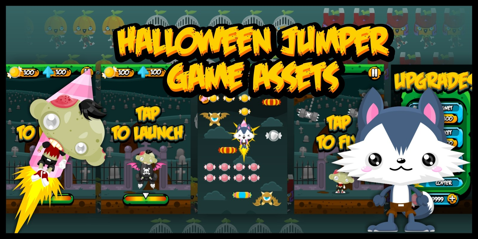 Jack & Friends - Jumping Game Sprites