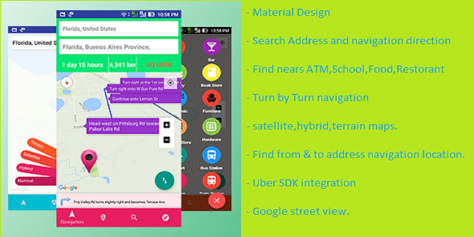 Near Me navigation - Android App Source Code by Skywevas