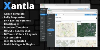 Xantia - Admin Theme Template HTML And PHP