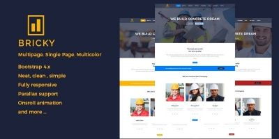 Bricky - Construction Website Template