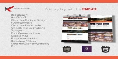 WKT  Construction Bootstrap 4 Template