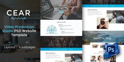 Cear - PSD Website Template