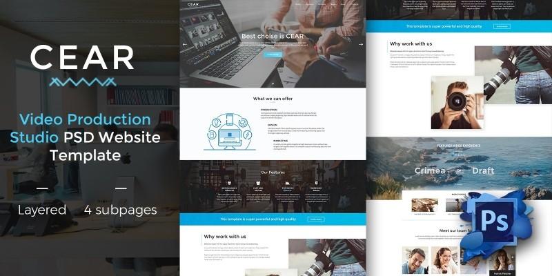 Cear - PSD Website Template