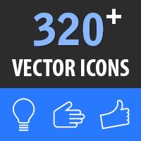 320 Thin Line Icons