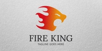 Fire King - Logo template