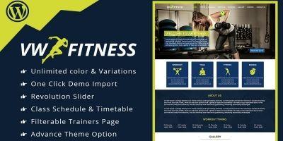 VW Fitness Pro - WordPress Theme