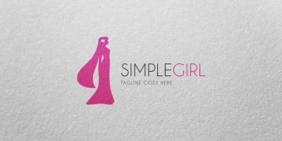 Simple Girl - Logo Template