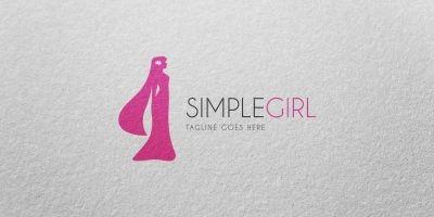 Simple Girl - Logo Template