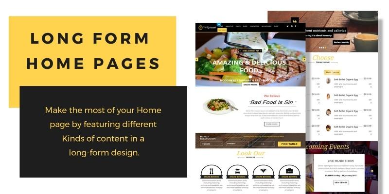 VW Restaurant Pro - WordPress Theme