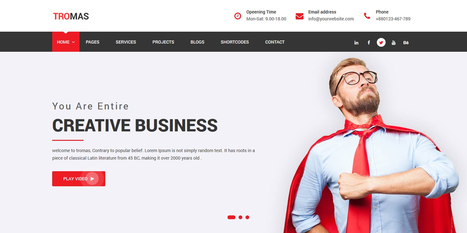 Tromas - Multipurpose Business HTML5 Theme