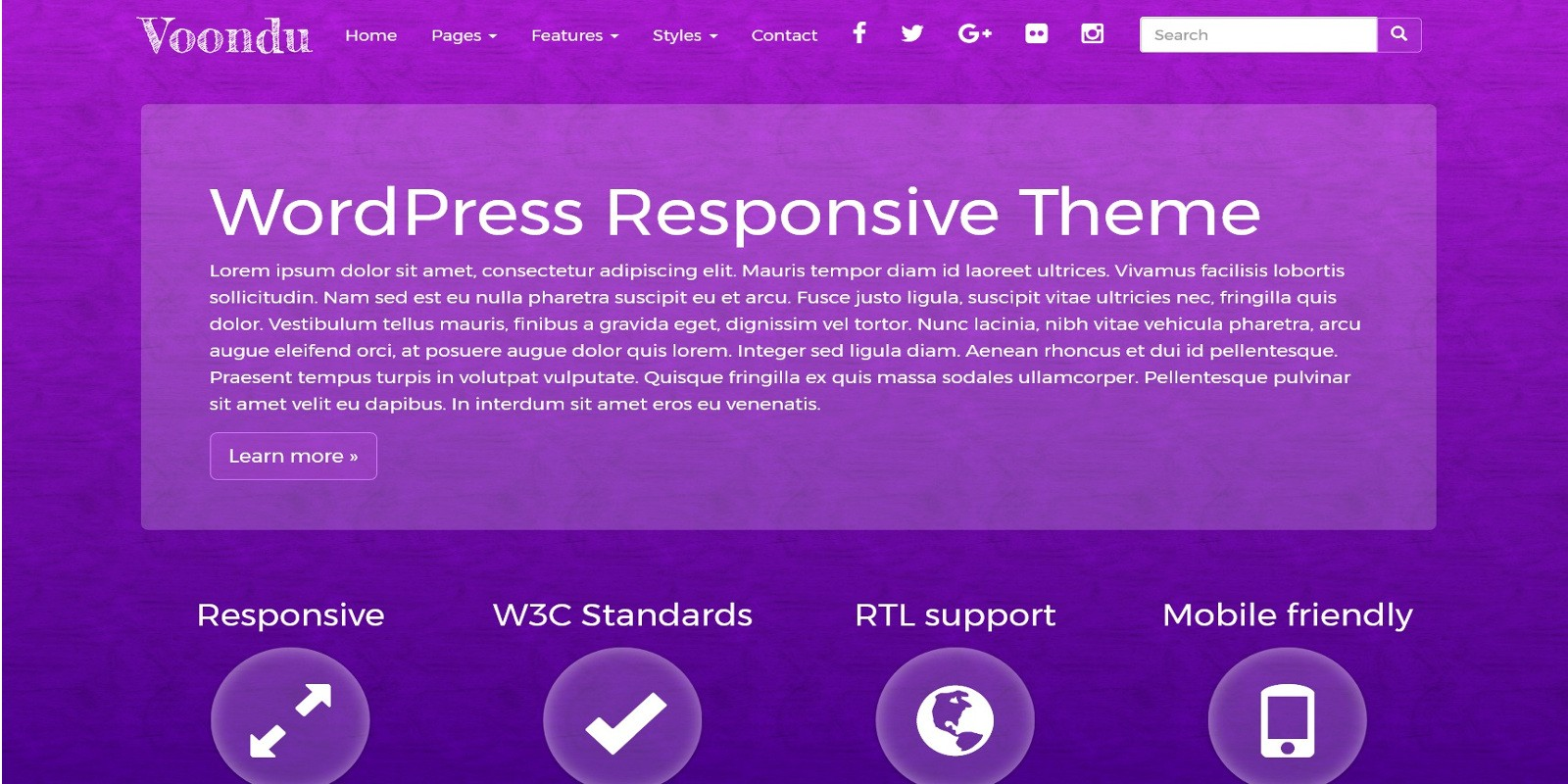 Voondu - Responsive WordPress Theme