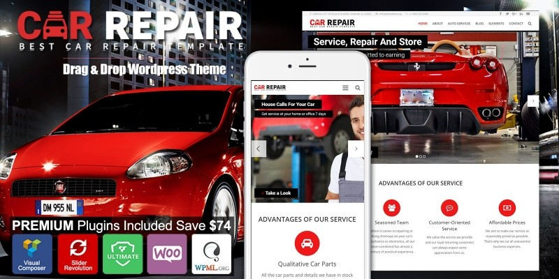 Car Repair - Auto Mechanic WordPress Theme