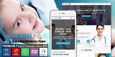 Dentist - Dental One Page WordPress Theme