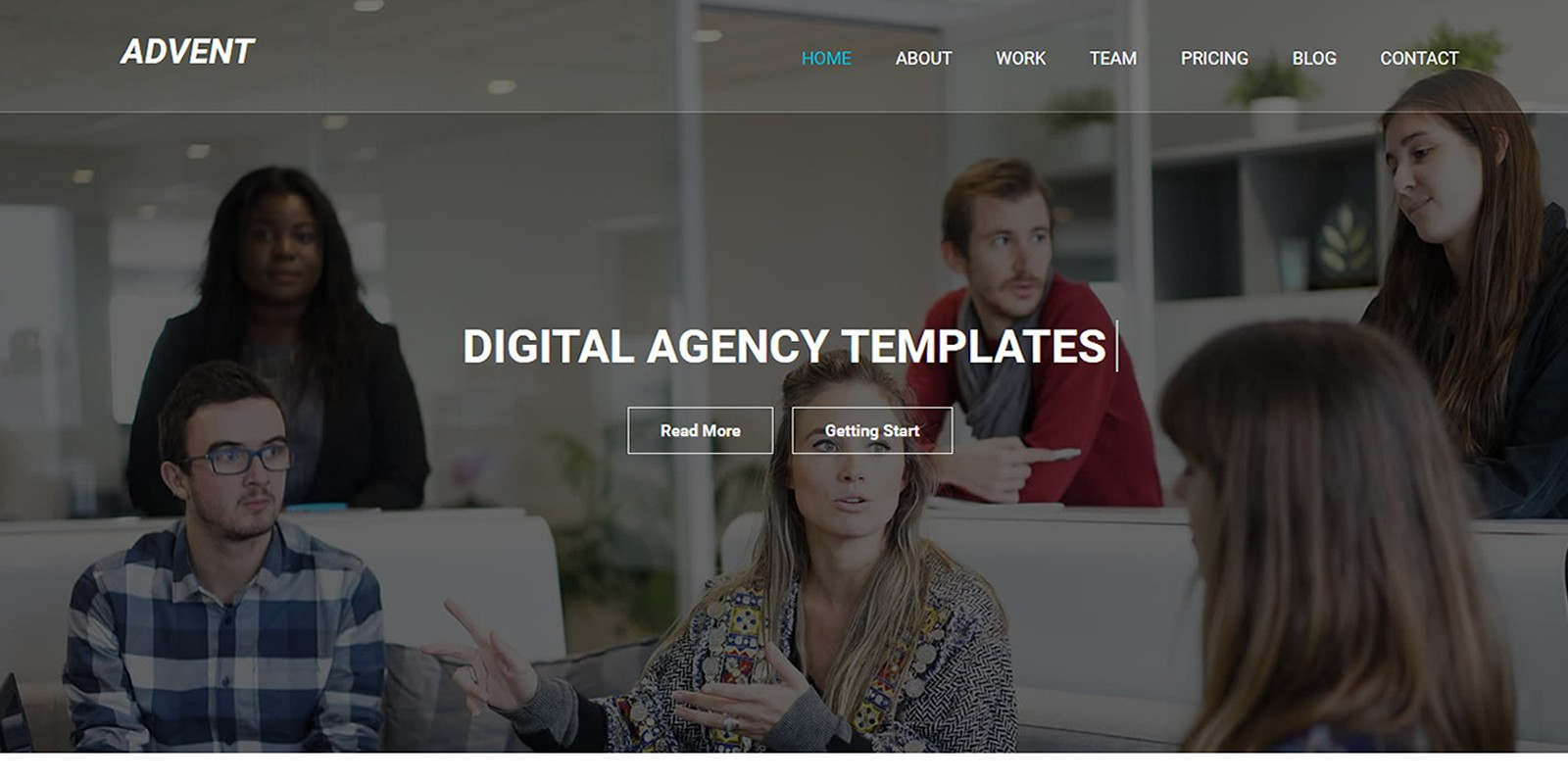 Advent - One Page MultiPurpose HTML5 Template
