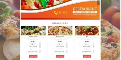 Simple HTML5 E-Commerce Template For Food
