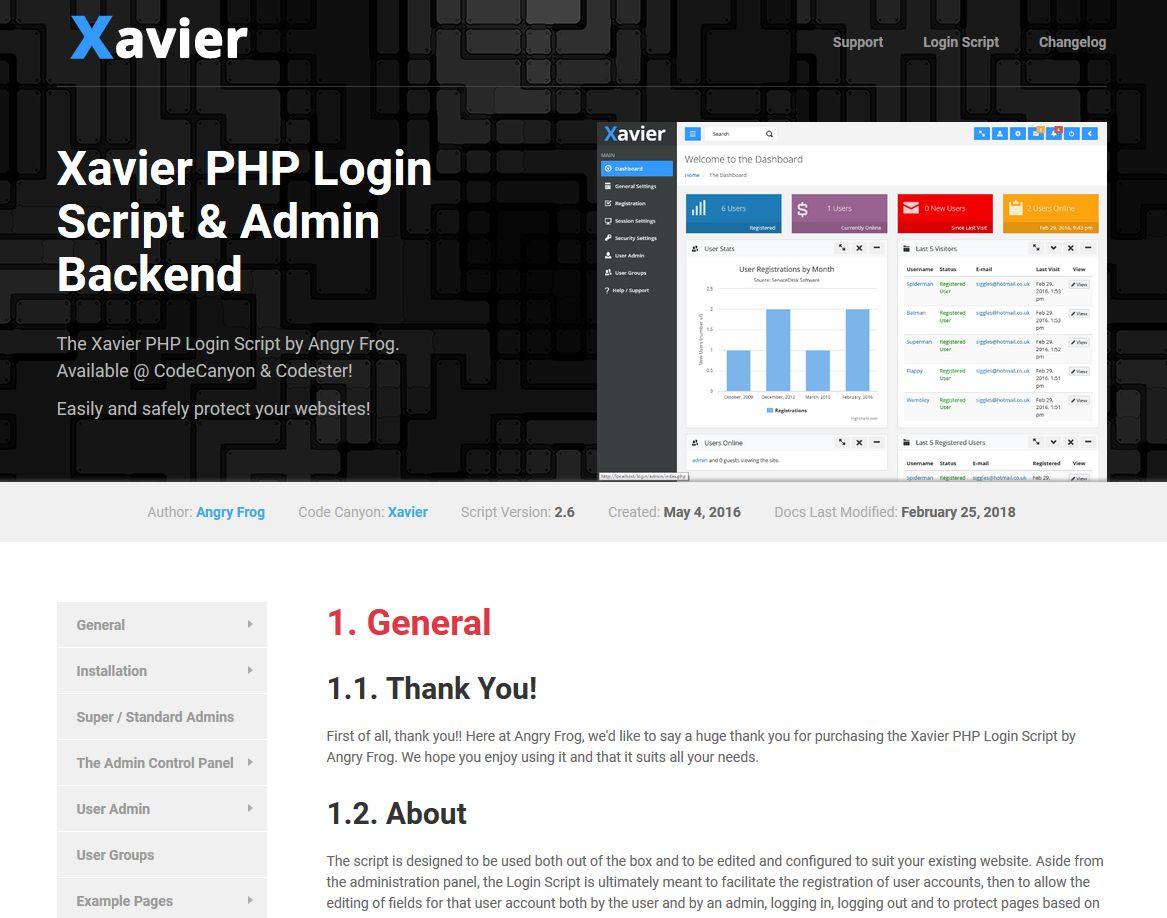 Xavier - PHP User Admin Login Script by Siggles   Codester
