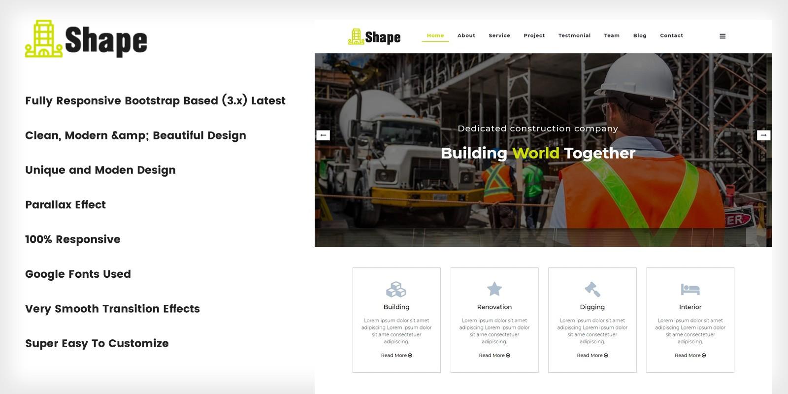 Shape - Construction  Company Template
