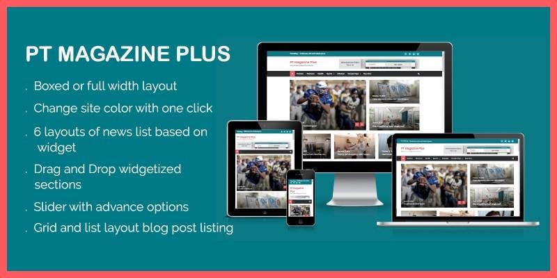 PT Magazine Plus WordPress Theme