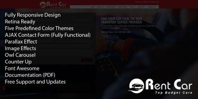 Rent Car HTML Template