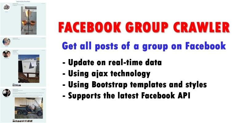 Facebook Group Crawler PHP Script