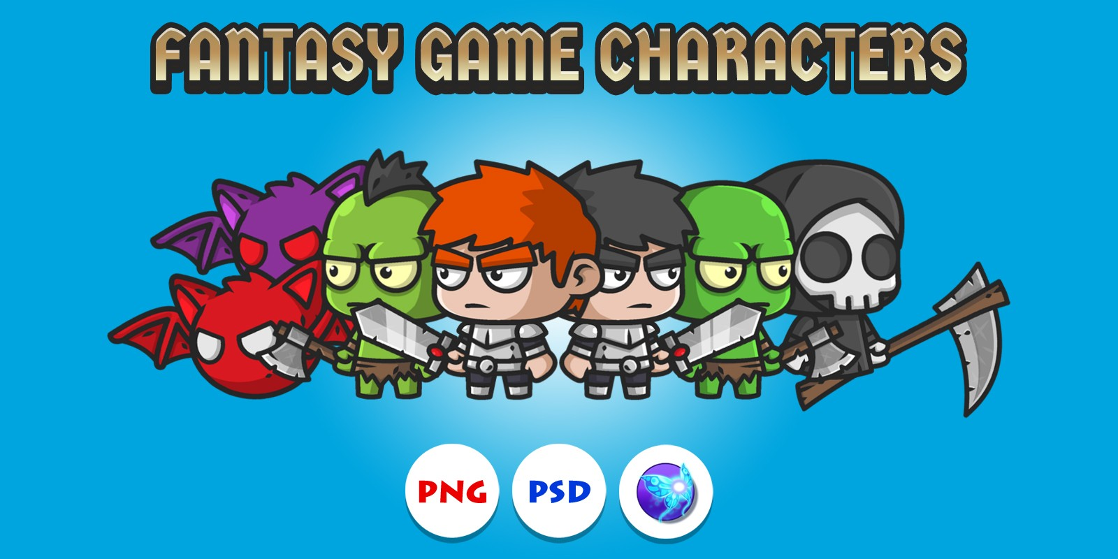 Fantasy Game Characters Pack
