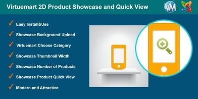 Virtuemart 2D Product Showcase And Quick View