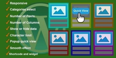 Responsive Grid Quick View Posts for WordPress
