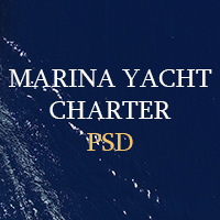 Marina Yacht Charter  - PSD Template