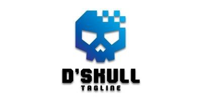 Digital Skull Logo